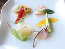 【イタリアン】日本海旬の魚介のアンティパスト