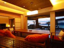 あなただけの専有露天風呂とテラスを有する特別客室【別邸 蒼空<天空>】※画像はTypeAとなります。