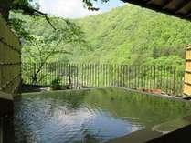 露天風呂付客室(和室)からの初夏の眺め