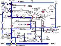 平成29年7月27日長陽大橋開通木の実の地図
