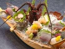 【期間限定・7/14まで】伊勢海老付地魚舟盛+金目鯛の姿煮◆お料理UP