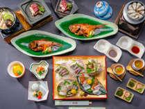 【松プラン】料理長の厳選した《The伊豆》を代表する食材ぜんぶ盛りプラン(二名様分)
