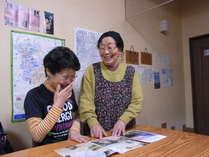 天川村の観光の相談、お一人様でのご旅行の際は女将とのおしゃべりをお楽しみください。
