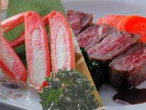【肉orカニチョイス♪】海鮮舟盛りとお肉かカニが選べる会席♪【お好みで!】