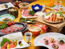 ランクアップした和風コース料理を大正ロマン風のお食事処で。