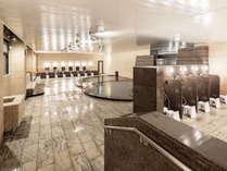 2021年8月大浴場&湯上り処リニューアル!温度別浴槽や仕切り付き洗い場完備