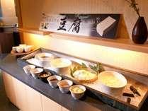 ◆メインダイニング天河/阿寒湖温泉にある「豆腐工房まるふく」手作りの地元特産「名水とうふ」