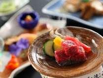 ■料理■厳選された信州牛がメインの彩り豊かな本格懐石料理