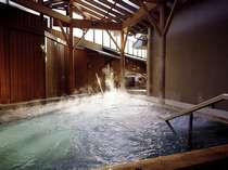 ■大浴場「滝見の湯屋」露天檜風呂