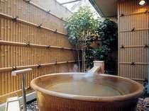 ■白雲南館 温泉露天風呂付洋室(信楽焼風呂タイプ)