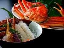■一品料理-冬の味覚「姿蟹」「蟹刺し」