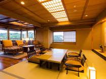 ■天祥の館「然 Zen」2ベッドルーム付ロイヤルスイート(和室+リビングルーム)、バス・トイレ付