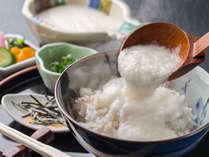 ■ご朝食-地元加賀産の「麦とろろごはん」をご用意。一日の元気の源を召し上がれ♪