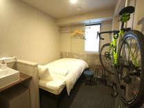 サイクルツーリスト大歓迎。大切な自転車をお部屋にお持込いただけます