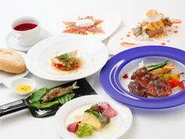 【里山美食フルコース】黒毛和牛をメインとした、当ホテル一番人気のディナー