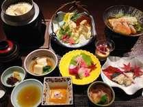 【秋の味覚】松茸と地場野菜の天ぷら付き会席◆ロゼ健康茶のお土産付き◆10時アウト(お食事処/2食付)