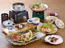 2018秋「季節の味覚」コース。松茸と季節の地場野菜の天ぷらや、旬の魚介をお楽しみください。