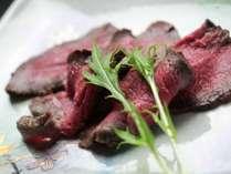 夕食 鹿肉ロースト