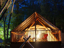 グランピング専用テントですので、どんな季節でも一年を通してご利用頂けます。