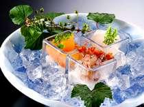 【夏】涼やかな夏のお造り 新鮮な丹後の魚です