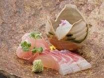 丹後で水揚げされた地物魚介の造り