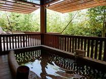 神立◆木の香漂う部屋付の露天風呂。広さも充分