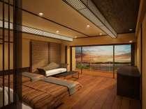 5階プレミアムフロア温泉露天風呂付和洋室イメージ
