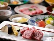 びわ湖花街道自慢の会席料理です。柔らか近江牛を堪能♪