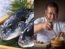 """山口県と言えば…『活きの良い""""ふく""""』 本場ならでは板長渾身のお料理を堪能下さい。"""