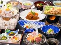 """冬の会席◆山口といえば""""ふく""""料理も♪山口の味覚を味わい下さい。※4月からはお品書きが変わります。"""