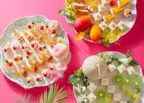 今年7月1日からはスイーツビュッフェも夏仕様!ピーチ、メロン、マンゴーの季節です。