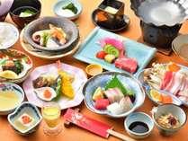 【ゆの香会席】料理長が厳選した食材で作る会席料理「ゆの香膳」