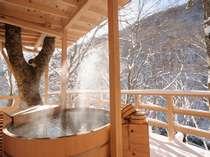 ■【天空の小鳥風呂】冬の温泉も格別
