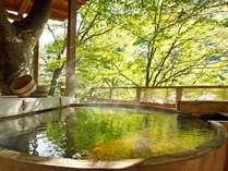 ■【天空の小鳥風呂・丸】川の流れる音が心地良い