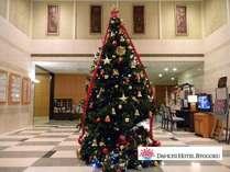 今年もロビーにクリスマスツリーが登場しました♪豪華夕食付クリスマスプラン2011好評販売中です!