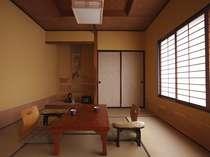 和室バストイレ無しタイプの一例。昔ながらの風情をのこしたお部屋でのんびり