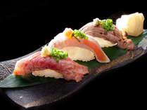当館一番人気のオプション料理♪「絶品★3種のにぎり」のイメージ画像♪