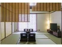 和室スペースにテレビを設置しています。301