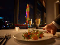 【ラ ヴェラ】色とりどりのイタリア料理を夜景とともに。