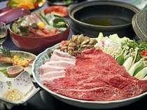 【能登を食す!】 ◆牛豚しゃぶしゃぶ会席◆ 海の眺めと美味しいお料理をご堪能! 海側のお部屋を確約♪