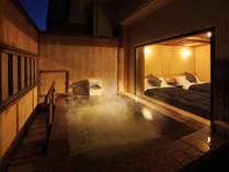 ◆八番館露天風呂付客室(一例):露天風呂付客室でのんびりプライベート温泉をお楽しみください
