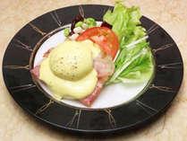 ◆朝食ブッフェ:エッグベネディクト(一例)