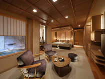 ◆秀峰館最上階眺望風呂付和洋室「雅」