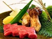 松茸と福島県産黒毛和牛をお召し上がりください。※画像はイメージです。