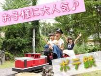 乗車可能の庭園鉄道♪お子様にも大人気☆沢山のお客様から大好評♪*