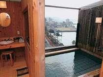 別館7階にある貸切露天風呂。