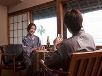 【じゃらん限定】【直前割】カップルプラン【露天風呂付き客室】でまったり☆スパークリングワイン特典♪