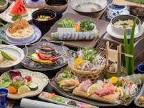 ◆◆【地元の幸たっぷり会席】長崎牛や走り蛸も!(写真のお造りは2人前のイメージです)
