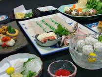 ハモフルコース一例 様々なお召し上がり方で食べていただきます。