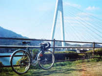 サイクリスト歓迎♪自転車置きスタンド設置しています♪